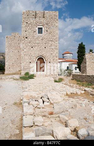 Logothetis castle at Pythagorion samos island greece 2008 - Stock Photo