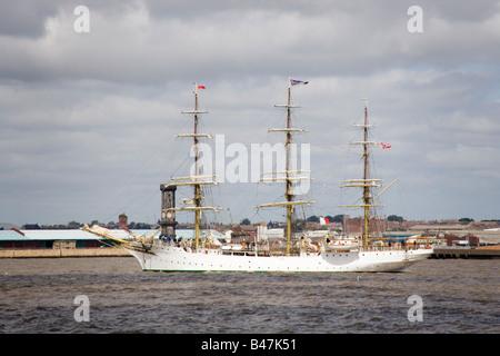 Norwegian sailing ship the Sorlandet at the Tall Ships race parade,Liverpool July 2008 - Stock Photo
