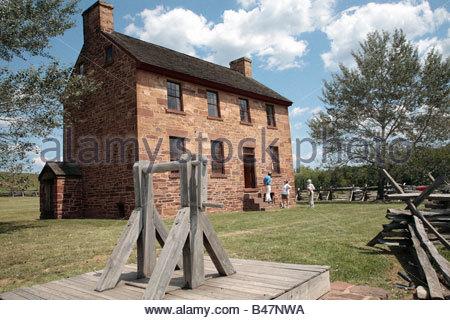The Stone House at the Manassas National Battlefield Park in Manassas, Virginia. - Stock Photo