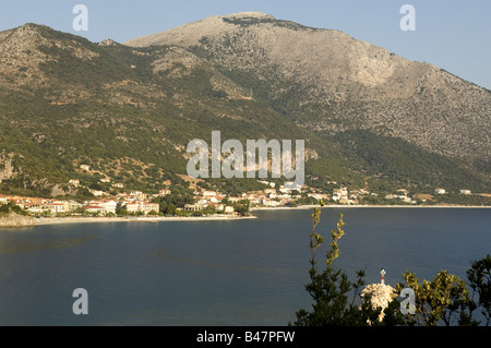 General view of Poros in Kefalonia - Stock Photo