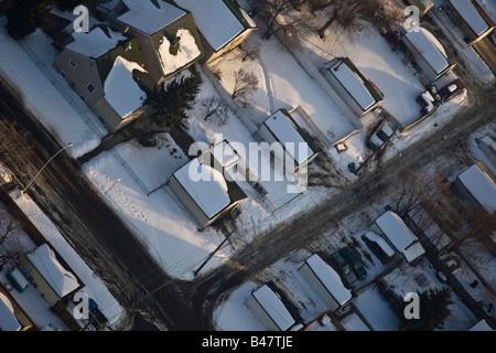 Snow covered rooftops - Stock Photo