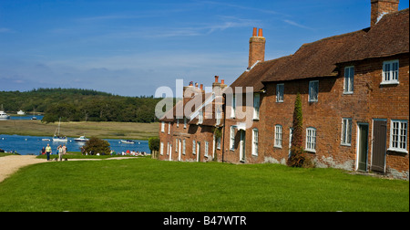 A picturesque view of Bucklers Hard - Stock Photo
