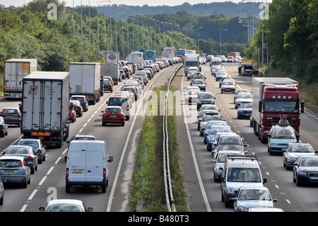 A12 trunk road congestion during Friday afternoon rush hour - Stock Photo