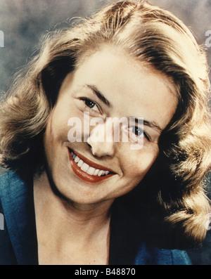 Bergman, Ingrid, 29.8.1915 - 29.8.1982, Swedish actress, portrait, 1960s, Additional-Rights-Clearances-NA - Stock Photo