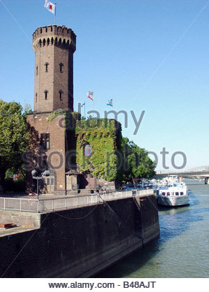geography / travel, Germany, North Rhine-Westphalia, Cologne, building, architecture, Malakoff tower at the chocolate - Stock Photo