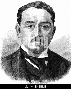 Rhodes, Cecil 5.7.1853 - 26.3.1902, British politician, Prime Minister of the Cape Colony 1890 - 1896, portrait, - Stock Photo