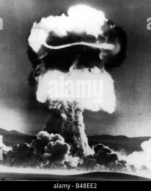 military, USA, nuclear weapon, 'Priscilla' test of a Mk-15/39 bomb, Area 5, Nevada Test Site, 24.6.1957, Additional - Stock Photo