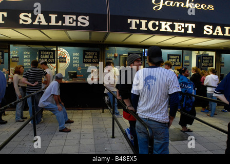 Baseball fans at the ticket windows at Yankee Stadium in the New York borough of The Bronx