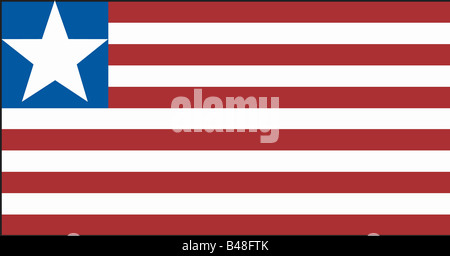 heraldry, emblem, Liberia, national flag, introduced: 26.7.1847, Additional-Rights-Clearance-Info-Not-Available - Stock Photo