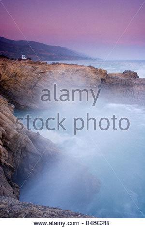 Leo Carrillo State Beach Coastline Malibu California - Stock Photo