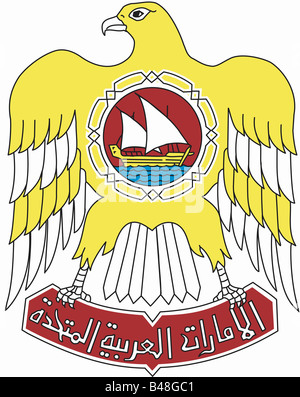 heraldry, coat of arms, United Arab Emirates, , Additional-Rights-Clearance-Info-Not-Available