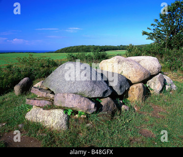 aeon, architecture, passage grave, circa 3500 - 1800 BC, Wittow, Island Rügen, Mecklenburg-Western Pomerania, Germany, - Stock Photo