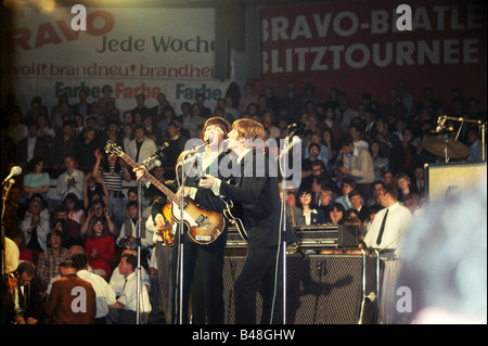 Beatles, 1960 - 1970, British rock band, live performance, Munich, Circus Krone, 24.6.1966, Additional-Rights-Clearances - Stock Photo