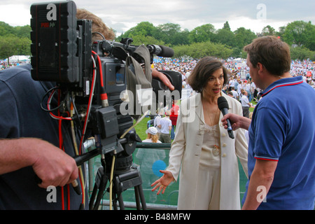 'Bianca Jagger' human rights activist, Edinburgh, Scotland UK. - Stock Photo