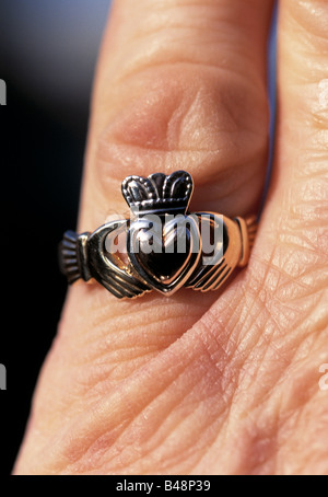 Claddagh Irish Symbol Of Love Friendship And Loyalty In Old Wooden