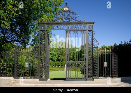 The Vanderbilt Gate entrance to The Conservatory Garden in New York City's Central Park - Stock Photo