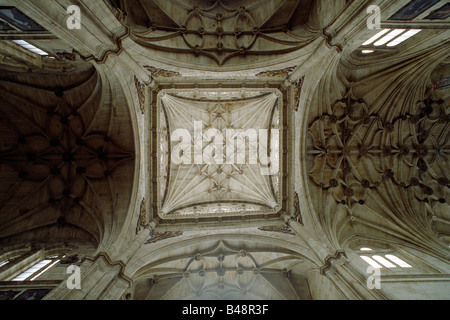 spain, salamanca, church of san esteban - Stock Photo