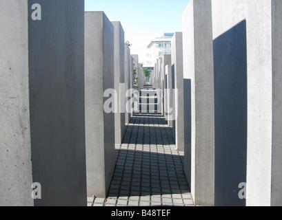 berlin holocaust memorial - Stock Photo