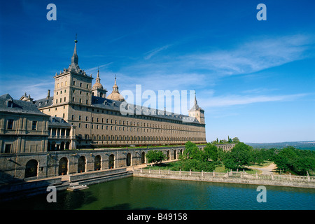 Spain - Madrid neighbourhood - San Lorenzo del Escorial - Monastery and Garden - Stock Photo