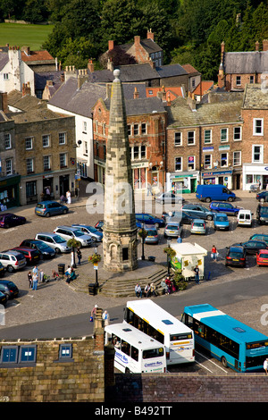 The Obelisk in the Market Place Richmond North Yorkshire - Stock Photo