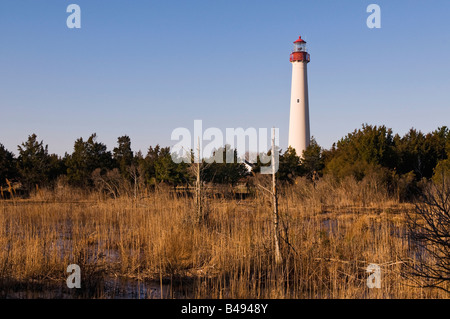 The Cape May Lighthouse, Cape May, New Jersey - Stock Photo