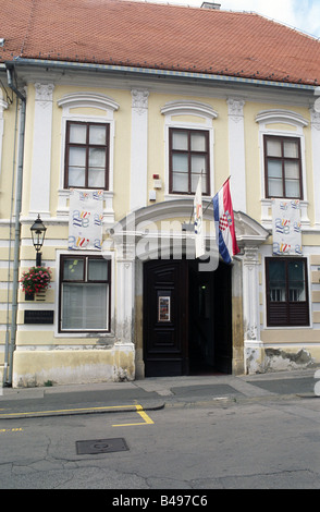 Museum of naive art, Upper Town, Zagreb, Croatia, Europe - Stock Photo