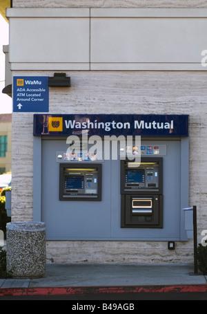 Washington Mutual (WaMu) ATM machine outside of a Branch in San Jose, CA. - Stock Photo