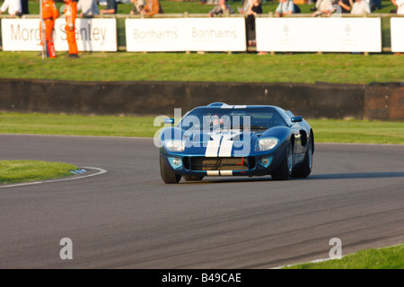 Ray Bellm driving a 1965 Ford GT40 at the 2008 Goodwood Revival meeting - Stock Photo