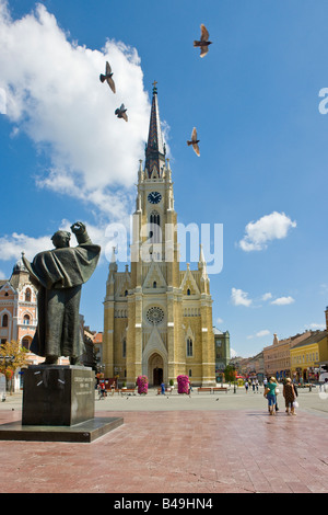 A Roman Catholic church in Novi Sad, Serbia, principal town of the northern region of Vojvodina - Stock Photo