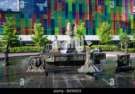 Montreal Conference centre, Palais des Congres Montreal, Canada - Stock Photo
