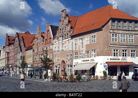 geography / travel, Germany, Lower Saxony, Lüneburg, city views / cityscapes, Old Town, Am Sande, middle-class houses, - Stock Photo