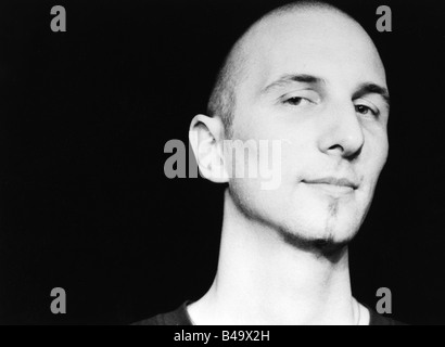 Bartmes, Johannes, * 1964, Swiss musician (Jazz), portrait, live performance, Mannheim, March 1997, Additional-Rights - Stock Photo