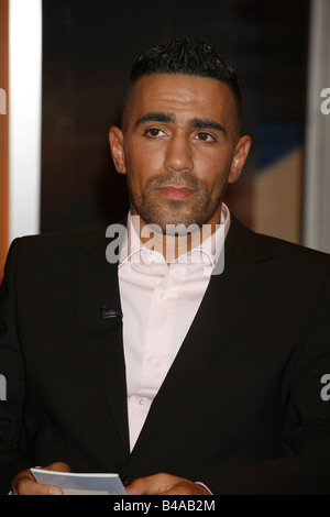 Rapper Bushido (Anis Mohamed Youssef Ferchichi) performs on stage in