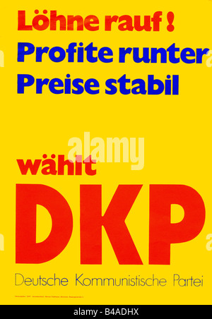 geography / travel, Germany, politics, parties, German Communist Party (Deutsche Kommunistische Partei, DKP), poster, - Stock Photo
