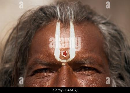 India, Udaipur, Rajasthan, Sadhu, Holy Man, Eyes - Stock Photo
