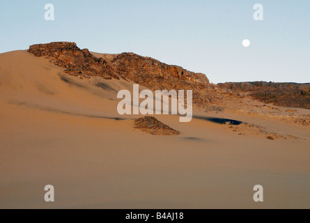 geography / travel, Algeria, landscapes, Tadrart Mountain, dunes of Erg Tin Merzouga, Additional-Rights-Clearance - Stock Photo