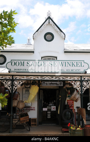 geography / travel, South Africa, Stellenbosch, trade, shop 'OOM SAMIE SE WINKEL' (Uncle Sam Shop), House No 84 - Stock Photo
