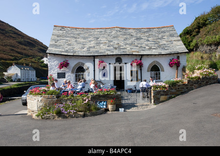 The Harbour Light cafe after reconstruction Boscastle North Cornwall UK - Stock Photo