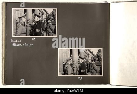 Obergruppenführer Friedrich Karl Baron von Eberstein - three photo albums, from his personal possession. Album 1 - Stock Photo