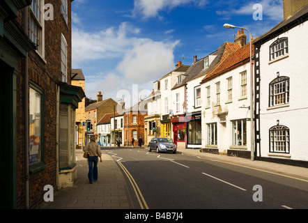Typical English High street in Alford, Lincolnshire, England, UK - Stock Photo