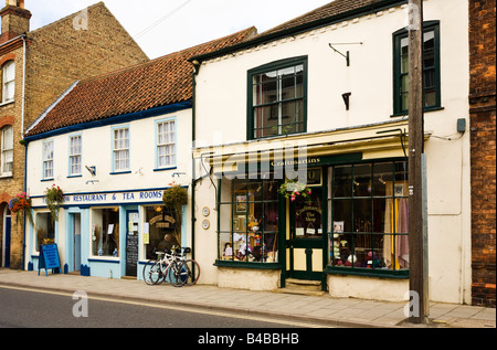 Traditional English Tea Room and Craft shops in Alford, Lincolnshire, England, UK - Stock Photo