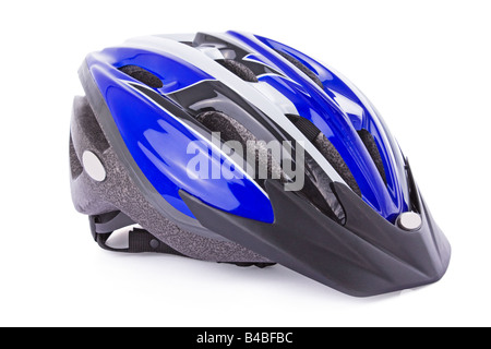 Cycling helmet isolated on a white background - Stock Photo