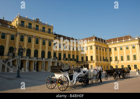Horse carriage in Palais de Schonbrunn, Vienna, Austria - Stock Photo