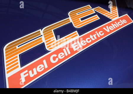 Hydrogen fuel cell vehicle - Stock Photo