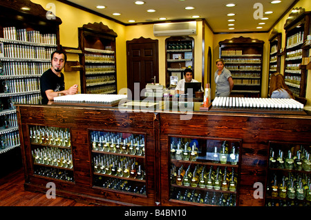Istanbul Istiklal Caddesi Beyoglu shopping street quarter perfume perfumes drug store scent oil scent perfumery - Stock Photo