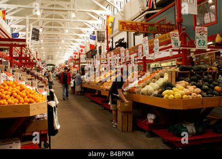 Interior of the Saint John City Market in the city of Saint John, New Brunswick, Canada - Stock Photo