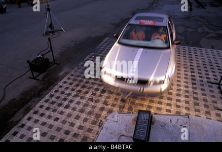 Car, Security, Crash tests, Audi A4 - Stock Photo