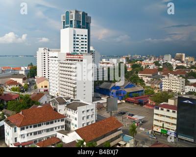 Asia, Malaysia, Penang, Pulau Pinang, Georgetown, City skyline - Stock Photo