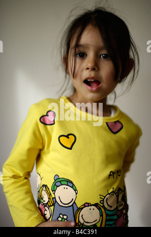 Five year old girl - Stock Photo