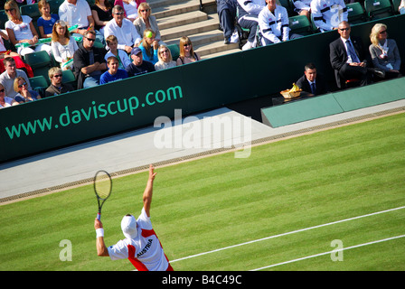 Davis Cup match, Great Britain vs Austria, Wimbledon, Greater London, England, United Kingdom - Stock Photo